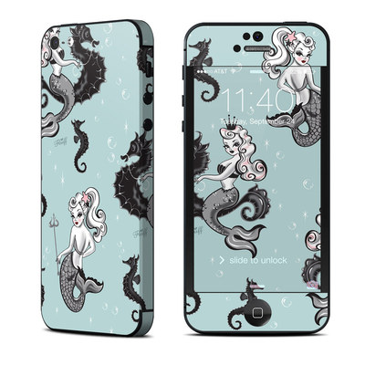 Apple iPhone 5 Skin - Vintage Mermaid