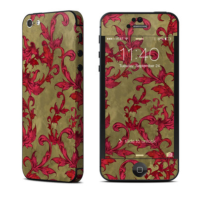 Apple iPhone 5 Skin - Vintage Scarlet