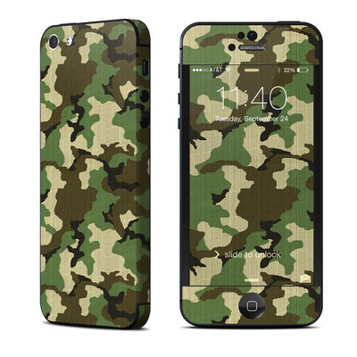 Apple iPhone 5 Skin - Woodland Camo