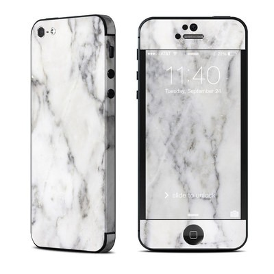 Apple iPhone 5 Skin - White Marble