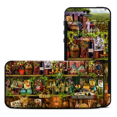 Apple iPhone 5 Skin - Wine Shelf