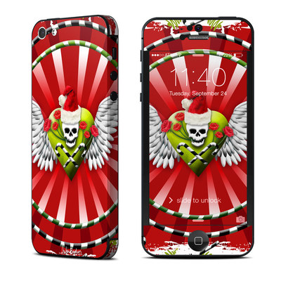 Apple iPhone 5 Skin - Xmas Skull