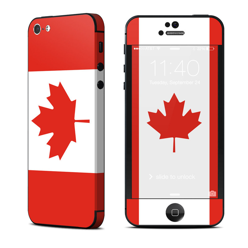 a0407c1077c Apple iPhone 5 Skin - Canadian Flag by Flags | DecalGirl