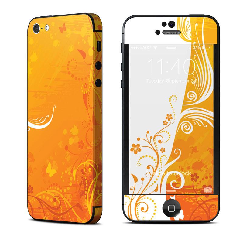 apple iphone 5 skin orange crush decalgirl. Black Bedroom Furniture Sets. Home Design Ideas