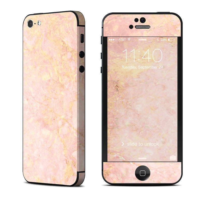 Apple iPhone 5 Skin - Rose Gold Marble by Marble Collection  913e89459a