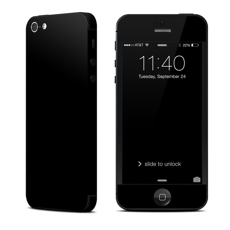 iphone 5 black apple iphone 5 skin solid state black by solid colors 10959