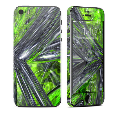 Apple iPhone 5S Skin - Emerald Abstract