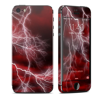 Apple iPhone 5S Skin - Apocalypse Red