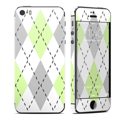 Apple iPhone 5S Skin - Mint Argyle