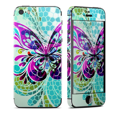 Apple iPhone 5S Skin - Butterfly Glass