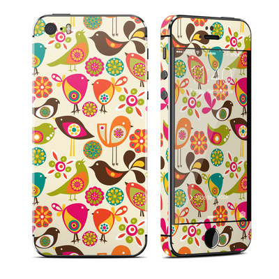 Apple iPhone 5S Skin - Bird Flowers
