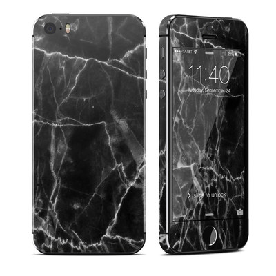Apple iPhone 5S Skin - Black Marble