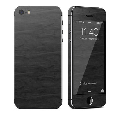 Apple iPhone 5S Skin - Black Woodgrain