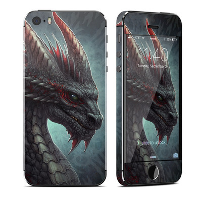 Apple iPhone 5S Skin - Black Dragon