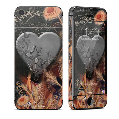 Apple iPhone 5S Skin - Black Lace Flower