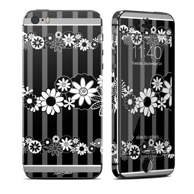Apple iPhone 5S Skin - Black Retro