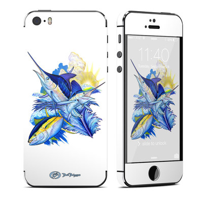 Apple iPhone 5S Skin - Blue White and Yellow