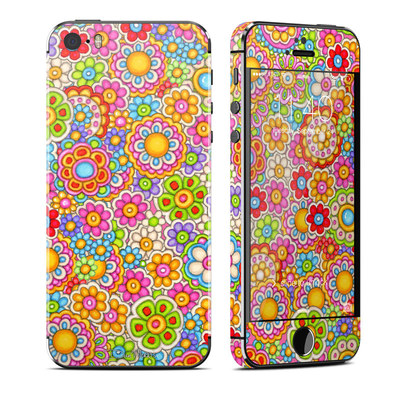 Apple iPhone 5S Skin - Bright Ditzy