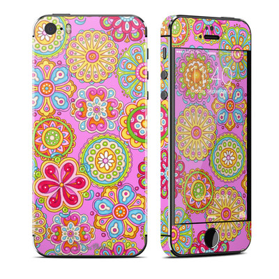 Apple iPhone 5S Skin - Bright Flowers