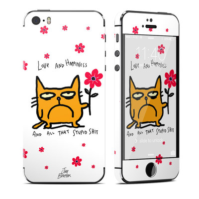 Apple iPhone 5S Skin - Catwad Happy