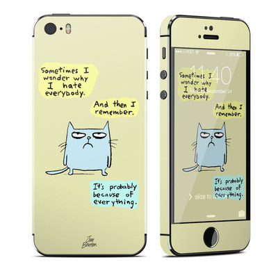 Apple iPhone 5S Skin - Catwad Hate