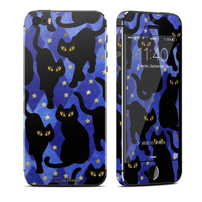 Apple iPhone 5S Skin - Cat Silhouettes
