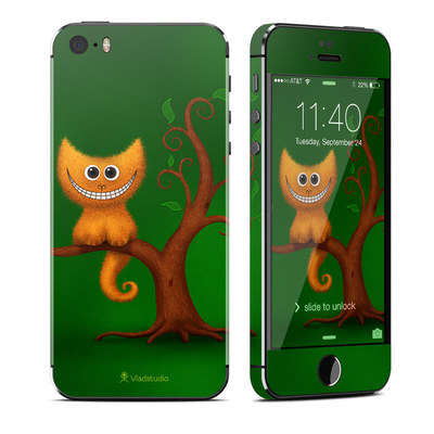 Apple iPhone 5S Skin - Cheshire Kitten