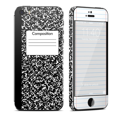 Apple iPhone 5S Skin - Composition Notebook