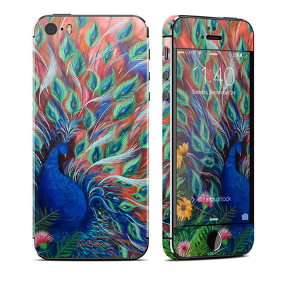 Apple iPhone 5S Skin - Coral Peacock