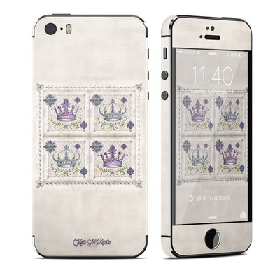 Apple iPhone 5S Skin - Purple Crown