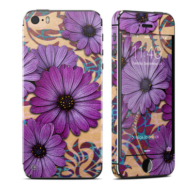 Apple iPhone 5S Skin - Daisy Damask