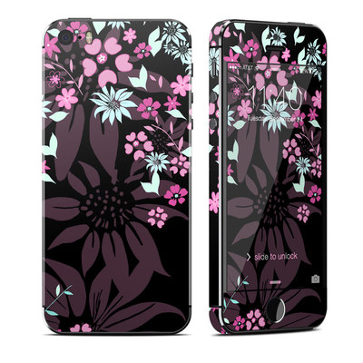Apple iPhone 5S Skin - Dark Flowers