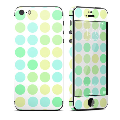 Apple iPhone 5S Skin - Big Dots Mint