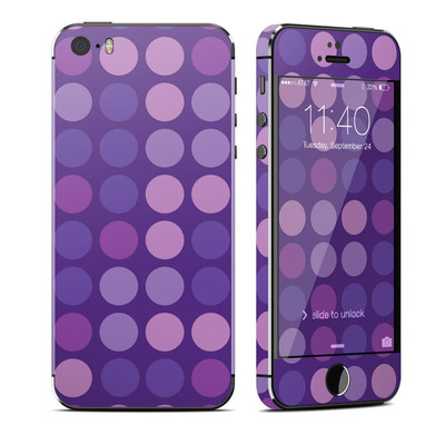 Apple iPhone 5S Skin - Big Dots Purple