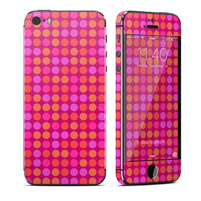 Apple iPhone 5S Skin - Dots Pink