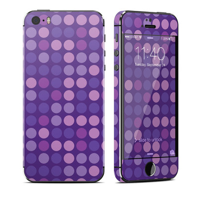 Apple iPhone 5S Skin - Dots Purple