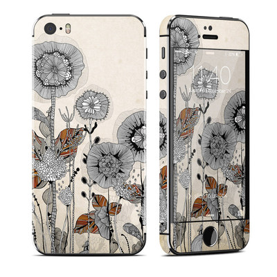 Apple iPhone 5S Skin - Four Flowers
