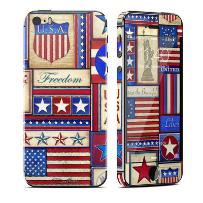 Apple iPhone 5S Skin - Flag Patchwork