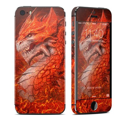 Apple iPhone 5S Skin - Flame Dragon