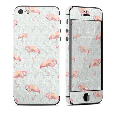 Apple iPhone 5S Skin - Flamingo Mosaic