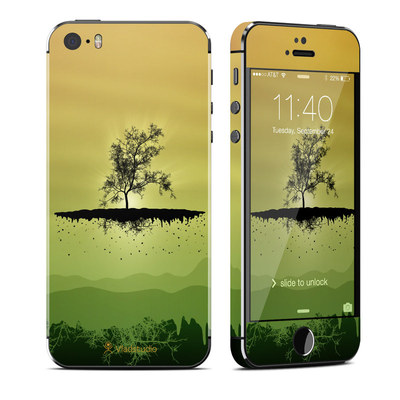 Apple iPhone 5S Skin - Flying Tree Amber