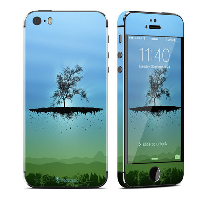 Apple iPhone 5S Skin - Flying Tree Blue