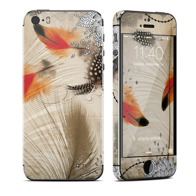Apple iPhone 5S Skin - Feather Dance