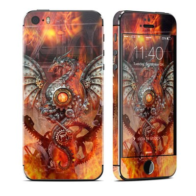 Apple iPhone 5S Skin - Furnace Dragon