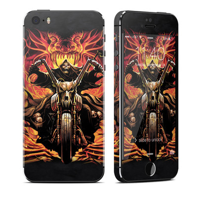 Apple iPhone 5S Skin - Grim Rider