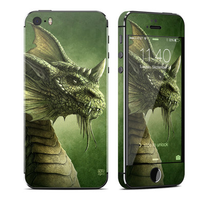 Apple iPhone 5S Skin - Green Dragon