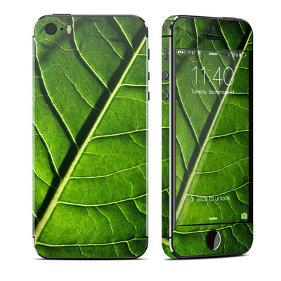 Apple iPhone 5S Skin - Green Leaf