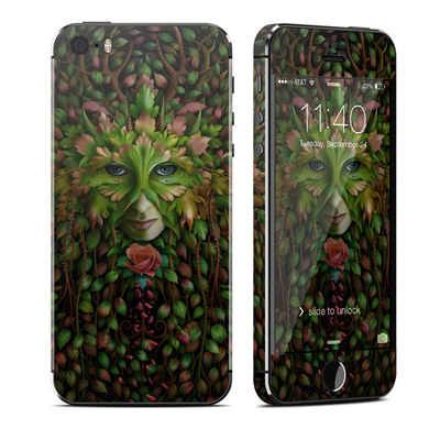 Apple iPhone 5S Skin - Green Woman