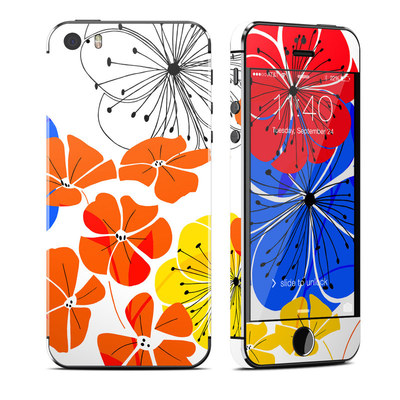 Apple iPhone 5S Skin - Hibiscus Dance