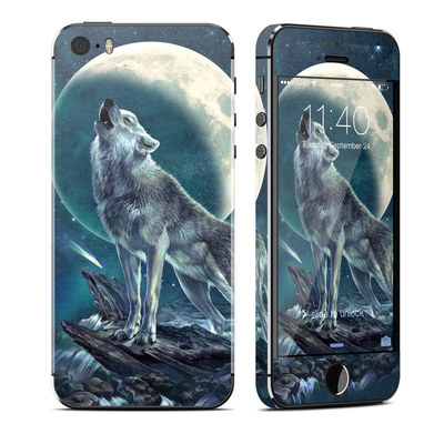 Apple iPhone 5S Skin - Howling Moon Soloist